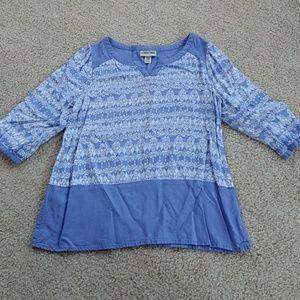 Girls 3/4 sleeve top